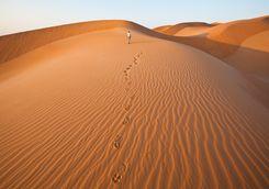 Sand dune hiking