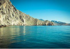The ocean in the Musandam Peninsula