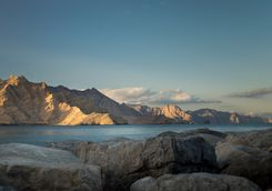 Sunset on Musandam's coastline