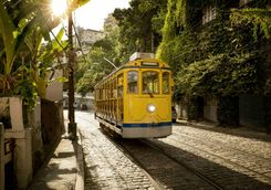 Tram in the Santa Teresa district