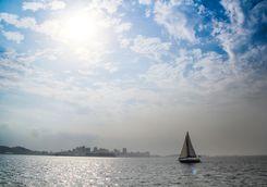 Sailing boat in Salvador