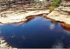 Natural rock pool in the national park