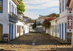 Colourful streets in Paraty
