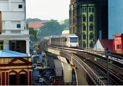 Elevated train in KL