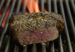 steak on a grill