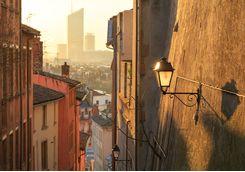 Narrow Street at Dawn