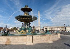 The fountain concorde de Paris