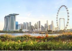 Central Singapore skyline