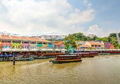 Clarke Quay on the Singapore river