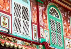 Colourful architecture in Malacca