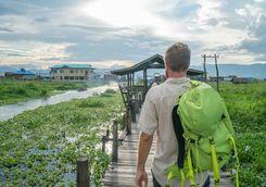 Walking around Nyaung Shwe
