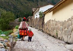 Peruvian woman and child