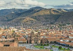 Aerial view of Cusco