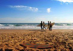 Surfers on a Beach