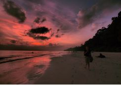 Sunset on Havelock Island