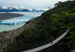 Bridge over a Glacier