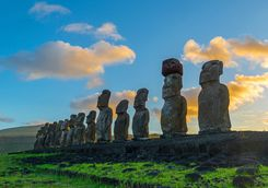 Easter Island in the Sunshine