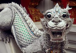 Dragon guarding a Thai temple