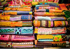 silk scarves in chiang mai
