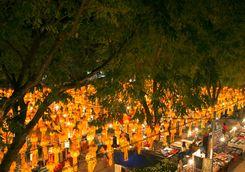 Chiang Mai outdoor market at night
