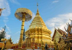 Doi Suthep golden stupa