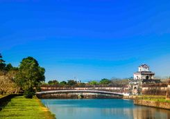 Hue Citadel in the sun