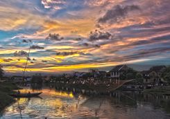 Hoi An dramatic sunset