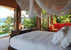 beach villa suite bedroom