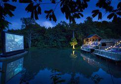 outdoor cinema at soneva kiri
