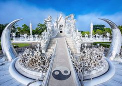 White temple in Chiang Rai