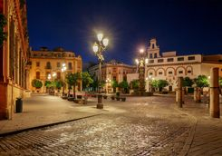 Streets of Seville at night