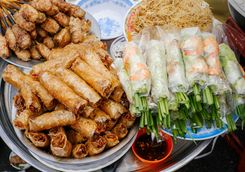 Spring rolls and Vietnamese streetfood