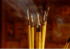 Incense sticks in Hanoi