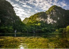 Trang An from the water