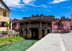 Japanese covered bridge in Hanoi