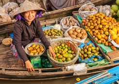 floating fruit market