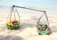fruit selling on the beach