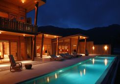 Villa at night at Six Senses Con Dao