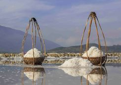 Baskets of salt in Vietnam
