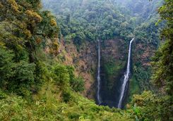 Waterfall in the Bolaven Plateau