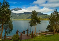 Chilean Lake and fishing rods
