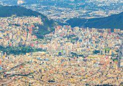 Quito city aerial