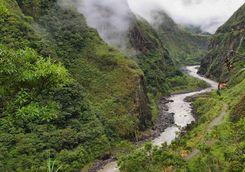 River through Ecuador rainforest