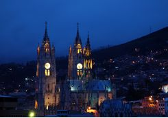 Quito Cathedral at night