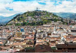 Panoramic image of Quito
