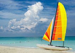 Catamaran on a Beach