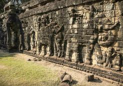 Elephant carvings at Angkor Thom