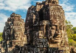 Faces of Bayon castle