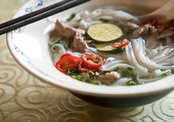 Vietnamese pho dish