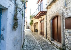 Cobbled Street in Cyprus